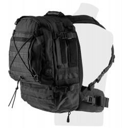 Pack sac à dos tactical avec pochettes et hydratation 3l Noir-T862001