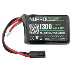 Batterie LiPo 11,1 v 1300 mAh Nuprol