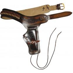 Ceinturon avec un holster pour revolver Western
