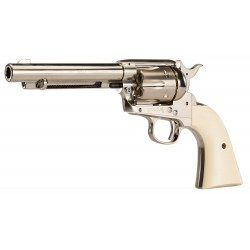 Pistolet Colt simple action army 45 nickelé