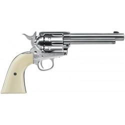 Revolver Colt simple action army 45 nickel - 4. 5 mm diabolos