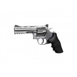 Revolver Dan Wesson silver 4'' CO2 plomb - ASG