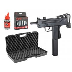 Pack Cobray Ingram M11 Co2 4. 5 mm avec mallette, Co2 et billes 4,5 - ASG