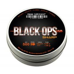 Plombs Black Ops Sharp - tête pointue - cal 4. 5 boîte de 500