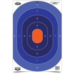Lot de 3 centres de cible silhouette réactives bleu-orange - Birchwood Casey