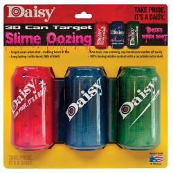 Cible Daisy 3 canettes 3D - effet sanglant