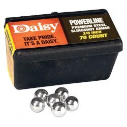 Billes d'acier 9.5 mm Daisy pour lance-pierre