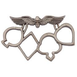 Poing américain Poker en métal bronzé-AD651