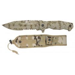 Couteau droit tactique K25 Camo désert