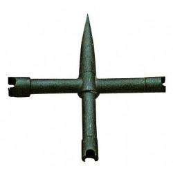 Clef démonte cheminée Pedersoli cruciforme universelle-RE963