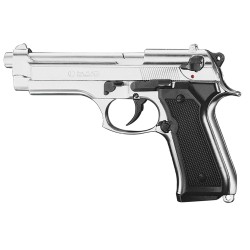 Pistolet 9 mm à blanc Chiappa 92 nickelé