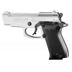 Pistolet 9 mm à blanc Chiappa 85 auto nickelé Pistolet à blanc Chiappa 85 auto nickelé-AB226