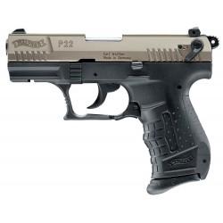 Pistolet 9 mm à blanc Walther P22 bicolore