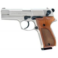 Pistolet 9 mm à blanc Walther P88 nickelé