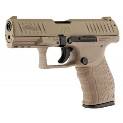 Pistolet 9 mm à blanc Walther PPQ M2 tan fde