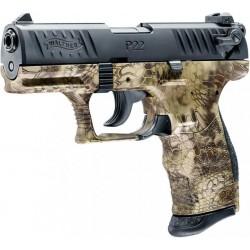 Pistolet 9 mm à blanc P22Q Walther Kryptek