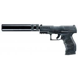 Pistolet 9 mm à blanc Walther PPQ M2 bronzé avec silencieux