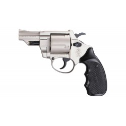 Revolver 9 mm à blanc Smith & Wesson Combat nickelé