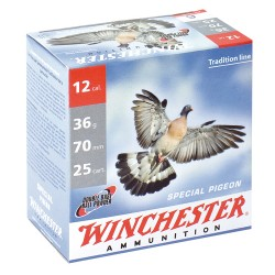 Cartouches Winchester spécial Pigeon - Cal. 12/70 Plombs 6 . PACK DE 150-MW2156