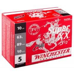 Cartouches Winchester Super XX Magnum plomb - Cal. 10/89 SUPER XX Magnum CALIBRE 10-89, culot de 20, 63 g, N°5-MW1315