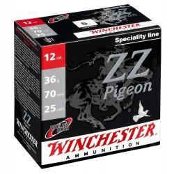 Cartouches Winchester ZZ Pigeon Electrocible - Cal. 12/70 ZZ PIGEON ELECTROCIBLE Cal. 12-70, culot de 20, 36 gr, N°5-MW2125