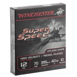 Cartouches Winchester Super Speed G2 nickel - Cal. 12/70 Super Speed G2 Nickelé Cal. 12-70, culot de 23, 40 gr, N°6-MW1136