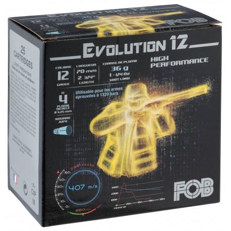 Cartouches Fob Evolution 12 - Cal. 12-70