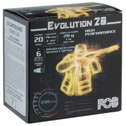 Cartouches Fob Evolution 20 - Cal. 20/70 FOB PASSION Nickel Cal. 20-70, culot de 16, 28 gr, N°7-MF7147