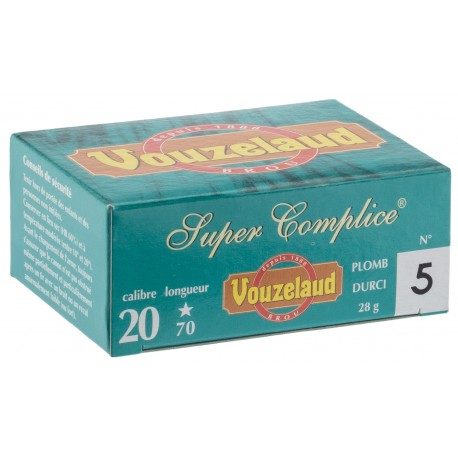Cartouches Vouzelaud - Super Complice 70 - calibre 20/70