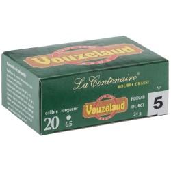Cartouches Vouzelaud - La Centenaire tube plastique - calibre 20/65
