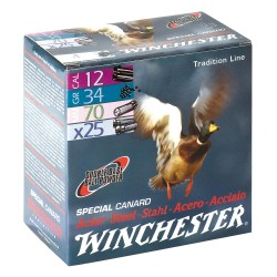 Cartouches Winchester Acier spécial canard Cal. 12/70