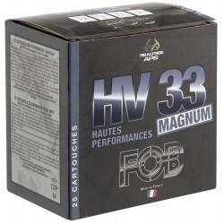 Cartouches de chasse Fob HV 33 Acier haute performance Magnum Cal. 12/76