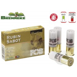 Cartouches Fob balles Rubin sabot Cal. 12/70