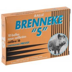 Cartouches Prevot à balle Brenneke-S - Cal. 16/67 BRENNEKE S Cal.16-67-MP516