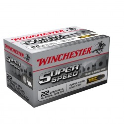 Cartouches 22 LR Winchester super speed