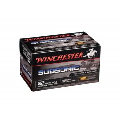 Munitions 22 LR Subsonic - Winchester Pointe creuse expansive BOITE 500