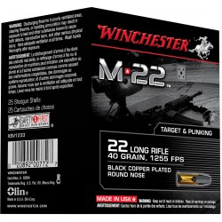M22 - munitions 22 long rifle - Winchester