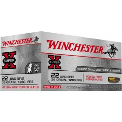 Super-x - munitions 22 long rifle - Winchester
