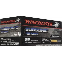 Munitions .22 Magnum Winchester subsonic