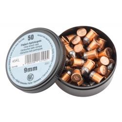 Boîte de 50 cartouches 9 mm Flobert balle conique - RWS