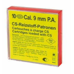 Boîte de 10 cartouches 9 mm PA gaz CS