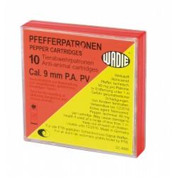Boîte de 10 cartouches 9 mm PA à poivre