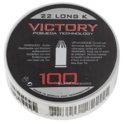 Boîte de 100 cartouches 22 LR à blanc-MD220
