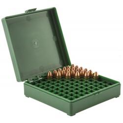 Boîte mégaline de rangement 100 munitions 9 x 19
