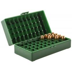 Boîte mégaline de rangement 50 munitions 45 acp