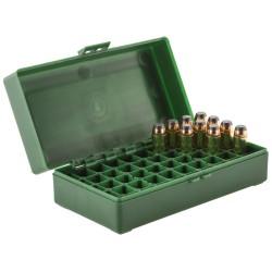 Boîte mégaline de rangement 50 munitions 44 Magnum