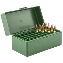 Boîte mégaline de rangement 50 munitions 243 win