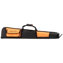 Fourreau orange/noir en cordura pour fusil de chasse - Country Sellerie
