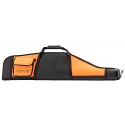Fourreau orange/noir en cordura pour carabine avec lunette - Country Sellerie