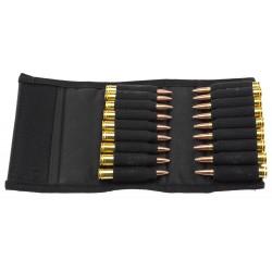 Etui nylon noir pour 18 balles de grande chasse-CU9625